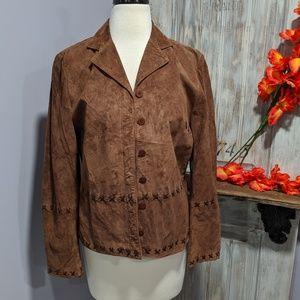 August Silk brown suede jacket